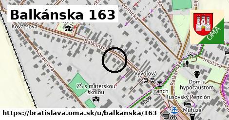 Balkánska 163, Bratislava