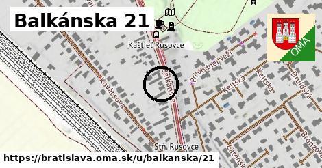 Balkánska 21, Bratislava