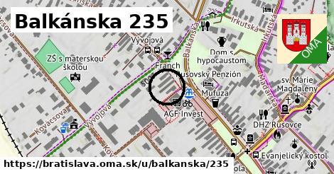 Balkánska 235, Bratislava