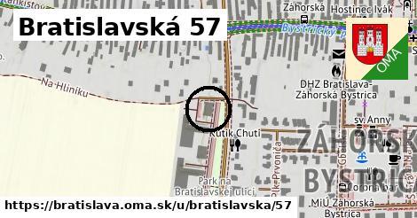 Bratislavská 57, Bratislava