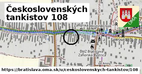 Československých tankistov 108, Bratislava
