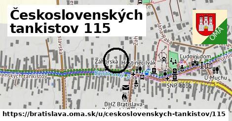 Československých tankistov 115, Bratislava