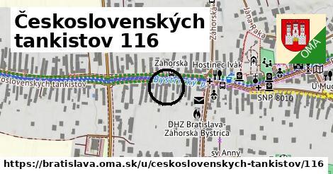 Československých tankistov 116, Bratislava