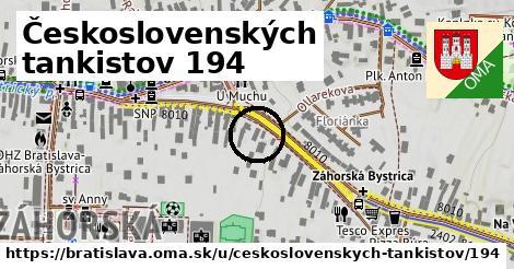 Československých tankistov 194, Bratislava