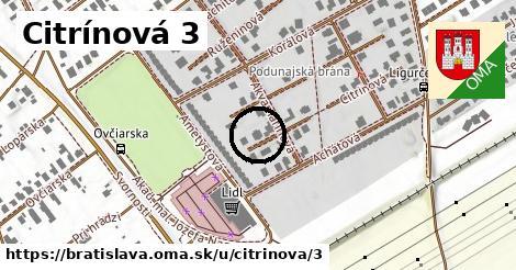 Citrínová 3, Bratislava