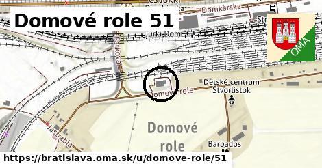 Domové role 51, Bratislava