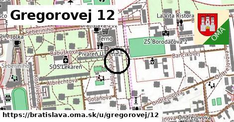 Gregorovej 12, Bratislava