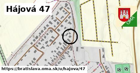 Hájová 47, Bratislava