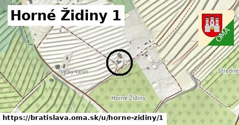 Horné Židiny 1, Bratislava