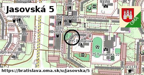Jasovská 5, Bratislava