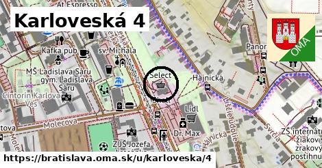 Karloveská 4, Bratislava