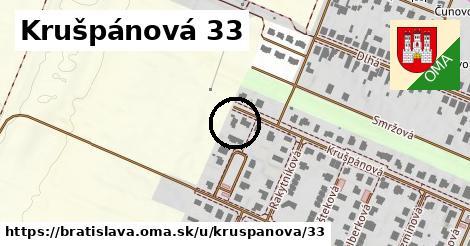 Krušpánová 33, Bratislava