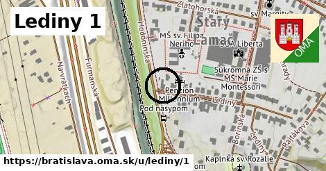 Lediny 1, Bratislava