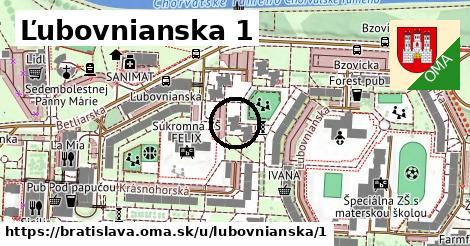 Ľubovnianska 1, Bratislava