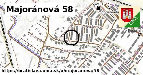 Majoránová 58, Bratislava