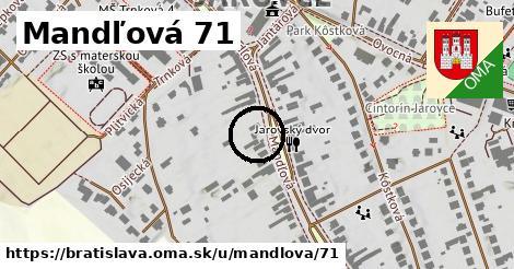 Mandľová 71, Bratislava