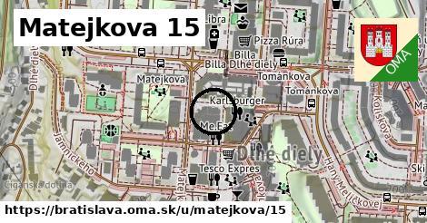 Matejkova 15, Bratislava