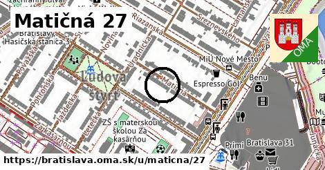 Matičná 27, Bratislava