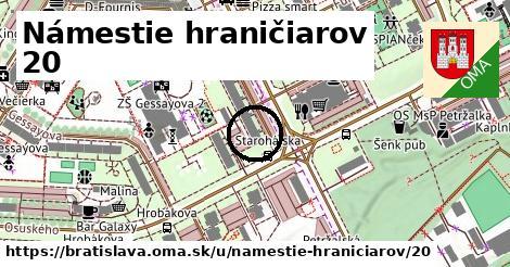 Námestie hraničiarov 20, Bratislava
