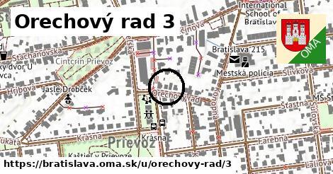 Orechový rad 3, Bratislava
