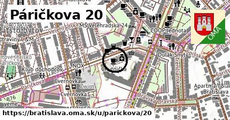 Páričkova 20, Bratislava