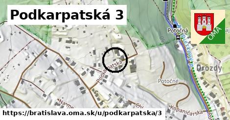 Podkarpatská 3, Bratislava