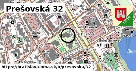 Prešovská 32, Bratislava