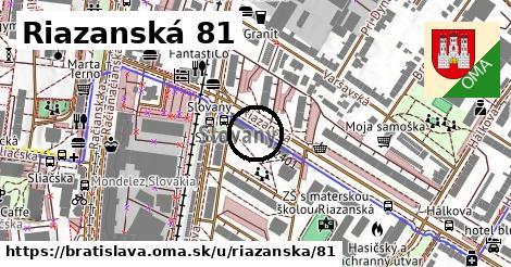 Riazanská 81, Bratislava