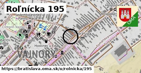 Roľnícka 195, Bratislava