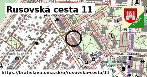 Rusovská cesta 11, Bratislava