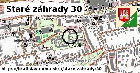 Staré záhrady 30, Bratislava