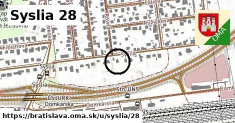 Syslia 28, Bratislava