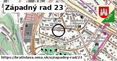 Západný rad 23, Bratislava