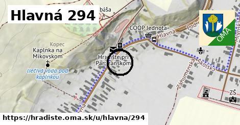 Hlavná 294, Hradište