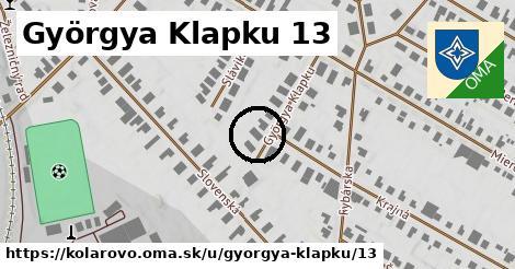 Györgya Klapku 13, Kolárovo