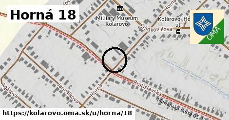 Horná 18, Kolárovo