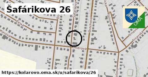 Šafárikova 26, Kolárovo