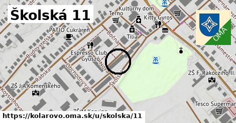 Školská 11, Kolárovo