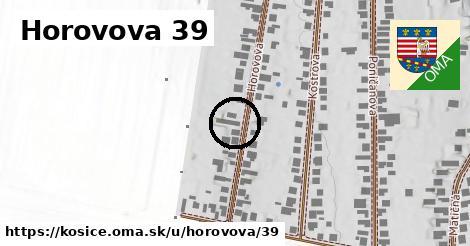 Horovova 39, Košice