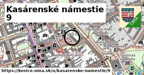 Kasárenské námestie 9, Košice