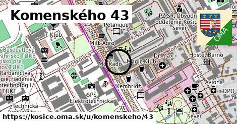 Komenského 43, Košice