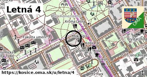 Letná 4, Košice
