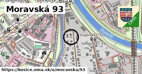 Moravská 93, Košice