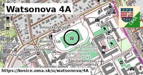 Watsonova 4A, Košice
