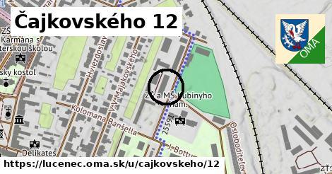 Čajkovského 12, Lučenec