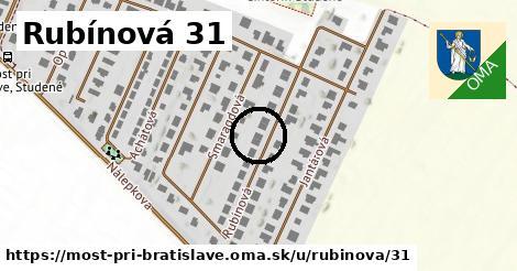 Rubínová 31, Most pri Bratislave