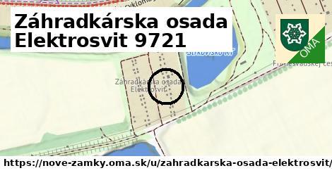 Záhradkárska osada Elektrosvit 9721, Nové Zámky