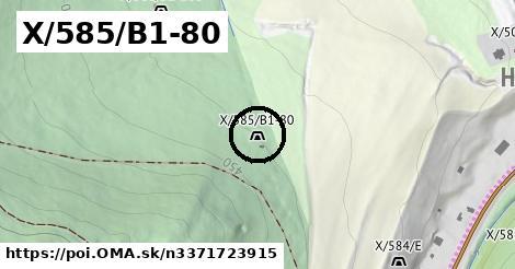 X/585/B1-80