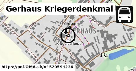 Gerhaus Kriegerdenkmal