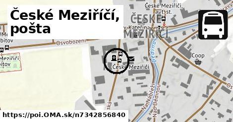 České Meziříčí, pošta